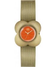 Orla Kiely OK4050 Ladies papaver vergulde armband horloge