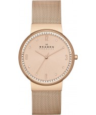 Skagen SKW2130 Ladies klassik rose goud mesh horloge