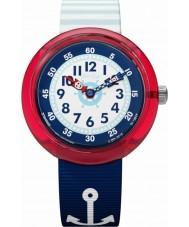 Flik Flak FBNP090 Meisjes matrose horloge