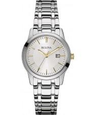 Bulova 98M121 Dames jurk zilveren stalen armband horloge