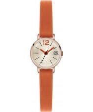 Orla Kiely OK2024 Ladies Frankie oranje lederen band horloge