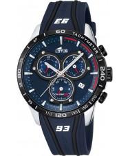 Lotus L18257-1 Mens Marc Márquez blauwe rubberen chronograafhorloge