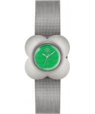 Orla Kiely OK4051 Ladies papaver zilveren stalen armband horloge