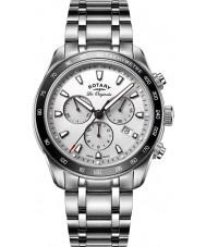 Rotary GB90169-02 Mens uurwerken legacy zilveren chronograafhorloge