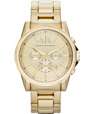 Armani Exchange AX2099 Mens vergulde chronograaf jurk horloge