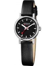 Mondaine A658-30301-14SBB Evo petite zwart lederen band horloge