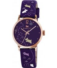 Radley RY2340 Ladies weide aubergine gedrukt riem horloge