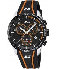 Lotus L18257-2 Mens Marc Márquez zwart rubber chronograafhorloge