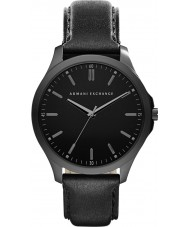 Armani Exchange AX2148 Men's jurk zwart lederen band horloge