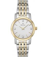 Bulova 98S115 Ladies diamant two tone stalen armband horloge