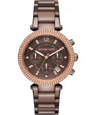 Michael Kors MK6378 Ladies parker bruin chronograaf