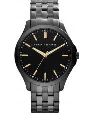 Armani Exchange AX2144 Mannen zwarte ip stalen armband jurk horloge