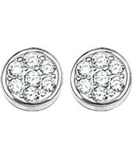 Thomas Sabo H1848-051-14 Ladies sprankelend cirkels zirconia pave disc oorknopjes