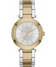 DKNY NY2334 Ladies stanhope two tone stalen armband horloge