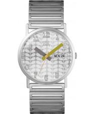 Orla Kiely OK4055 Ladies madison zilveren stalen armband horloge