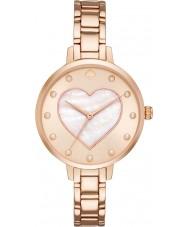 Kate Spade New York KSW1216 Ladies metro rose gouden stalen armband horloge