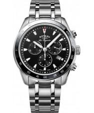 Rotary GB90169-04 Mens uurwerken legacy zilveren chronograafhorloge